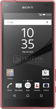 """Защищенные смартфоны Sony Xperia Z5 Compact Coral (Android 5.1/MSM8994 2000MHz/4.6"""" 1280x720/2048Mb/32Gb/4G LTE ) [E5823Coral] от Нотик"""