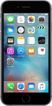"Фотография товара смартфон Apple iPhone 6s 128Gb Space Gray (iOS 9/A9 1840MHz/4.7"" 1334x750/2048Mb/128Gb/4G LTE ) [MKQT2RU/A] (41531)"