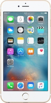 Смартфон Apple iPhone 6s Plus 64Gb Gold (iOS 9/A9 1840MHz/5.5 (1920x1080)/2048Mb/64Gb/4G LTE 3G (EDGE, HSDPA, HSPA+)) [MKU82RU/A]Apple<br>5.5 Apple 1840 МГц 2048 Мб Flash drive 64 Гб iOS 9 бат. - до 14.0 ч Золотистый<br>