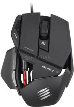 """Мышь проводная Mad Catz R.A.T. 3 Gaming Mouse, 3500dpi, Черный + подарок от """"World of Tanks"""" MCB4370300B2/04/1Mad Catz<br>Мышь проводная Mad Catz R.A.T. 3 Gaming Mouse, 3500dpi, Черный + подарок от """"World of Tanks"""" MCB4370300B2/04/1<br>"""