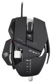 """Мышь проводная Mad Catz R.A.T. 5 Gaming Mouse USB, 5600dpi, Черный + подарок от """"World of Tanks"""" MCB4370500B2/04/1 от Нотик"""