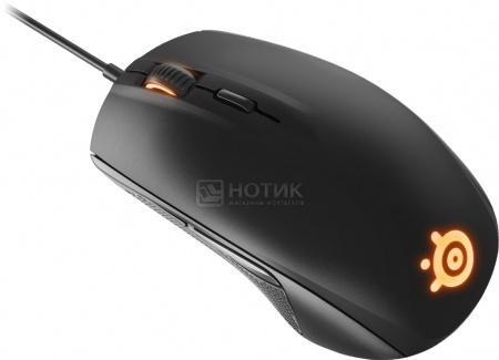 Мышь проводная SteelSeries Rival 100, 4000dpi, Черный 62341