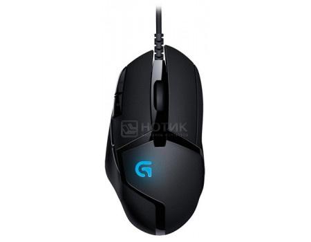 Мышь проводная Logitech G402 Hyperion Fury, 4000dpi, Черный 910-004067