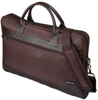 """Фотография товара сумка 17,3"""" Cross Case CC17-014, Кожа/Нейлон, Коричневый (41813)"""