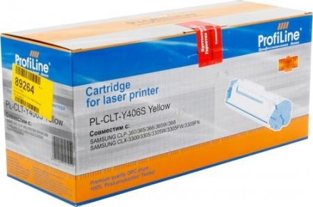 Картридж ProfiLine PL-CLT-Y406S для Samsung CLP-360/365/365W 1000 стр, Желтый, арт: 41919 - ProfiLine