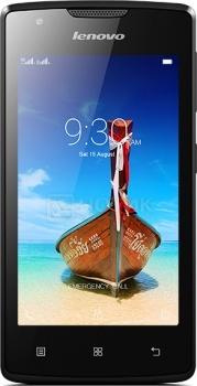 Смартфон Lenovo A1000 Black (Android 5.0/SC7731 1300MHz/4.0 (800x480)/1024Mb/8Gb/ 3G (EDGE, HSDPA, HSPA+)) [PA1R0025RU]Lenovo<br>4.0 MediaTek 1300 МГц 1024 Мб Flash drive 8 Гб Android 5.0 бат. - до 9.0 ч Черный<br>