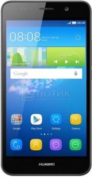 """Смартфон Huawei Y6 Black (Android 5.1/MSM8909 1100MHz/5.0"""" (1280x720)/1024Mb/8Gb/ 3G (EDGE, HSDPA, HSPA+)) [SCL-U31 Black] от Нотик"""