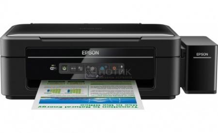 МФУ струйное цветное Epson L366, A4, 33/15 стр/мин, WiFi, USB, Черный C11CE54403
