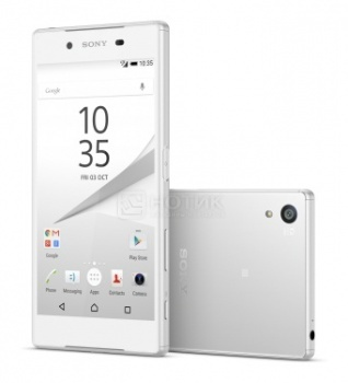 Защищенные смартфоны Sony Xperia Z5 Dual White (Android 5.1/MSM8994 2000MHz/5.2 1920x1080/3072Mb/32Gb/4G LTE  ) [E6683White]