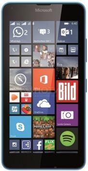 Смартфон Nokia Lumia 640 LTE Cyan (Windows Phone 8.1/MSM8226 1200MHz/5.0 (1280x720)/1024Mb/8Gb/4G LTE 3G (EDGE, HSDPA, HSUPA)) [640 LTE Cyan]Nokia<br>5.0 Qualcomm 1200 МГц 1024 Мб Flash drive 8 Гб Windows Phone 8.1 бат. - до 26.5 ч Синий<br>