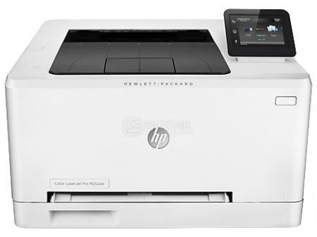 Принтер лазерный цветной HP LaserJet Pro 200 M252dw, A4, 18 стр/мин, 256Мб, USB, LAN, WiFi, Белый B4A22A
