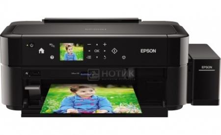 Принтер струйный цветной Epson L810, A4,37/38 стр/мин, USB,Черный C11CE32402