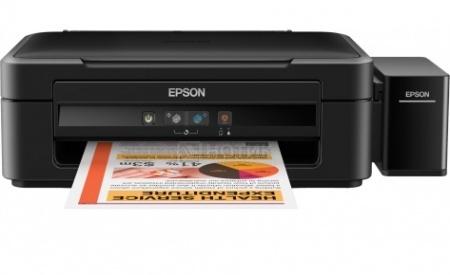МФУ струйное цветное Epson L222, A4, 27/15 стр/мин, USB, Черный C11CE56403