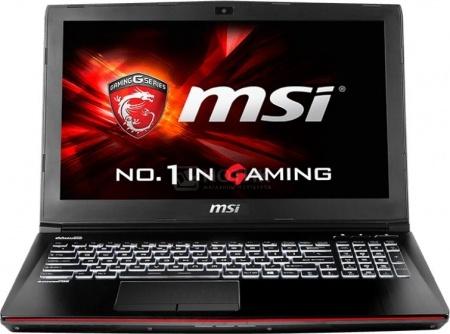 Ноутбук MSI GE62 2QC-631RU Apache (15.6 LED/ Core i5 4210H 2900MHz/ 8192Mb/ HDD 1000Gb/ NVIDIA GeForce GTX 960M 2048Mb) MS Windows 10 Home (64-bit) [9S7-16J222-631]