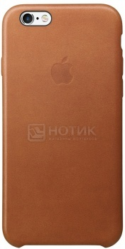 Чехол для iPhone 6s Plus Apple Leather Case Saddle Brown, Золотисто-коричневый MKXC2ZM/A аксессуар чехол stone age jungle collection wood skin для iphone 6 plus кожа brown w8582