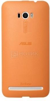 Чехол Asus Bumper Case PF-01 для ZenFone Selfie ZD551KL, Полиуретан, Оранжевый 90XB00RA-BSL380