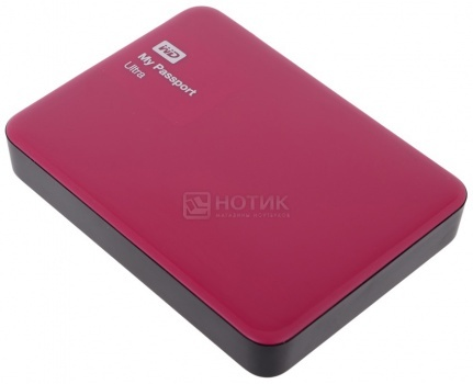 "Внешний жесткий диск Western Digital 1Tb WDBDDE0010BBY-EEUE My Passport Ultra 2.5"" USB 3.0, Красный"