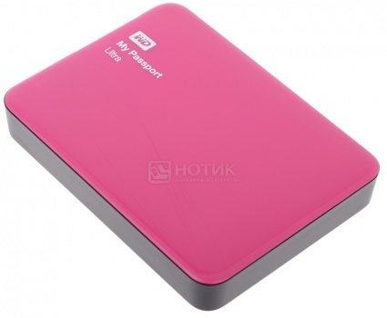 "Внешний жесткий диск Western Digital 2Tb WDBNFV0020BBY-EEUE My Passport Ultra 2.5"" USB 3.0, Красный"
