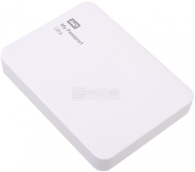 "Внешний жесткий диск Western Digital 2Tb WDBNFV0020BWT-EEUE My Passport Ultra 2.5"" USB 3.0, Белый"
