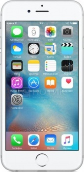 "Фотография товара смартфон Apple iPhone 6s Plus 128Gb Silver (iOS 9/A9 1840MHz/5.5"" 1920x1080/2048Mb/128Gb/4G LTE  ) [MKUE2RU/A] (42479)"