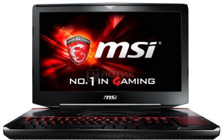 Ноутбук MSI GT80S 6QE-019RU Titan SLI (18.4 IPS (LED)/ Core i7 6820HK 2700MHz/ 32768Mb/ HDD+SSD 1000Gb/ NVIDIA GeForce GTX 980Mx2 SLI 8192Mb) MS Windows 10 Home (64-bit) [9S7-181412-019]MSI<br>18.4 Intel Core i7 6820HK 2700 МГц 32768 Мб DDR4-2133МГц HDD+SSD 1000 Гб MS Windows 10 Home (64-bit), Черный<br>