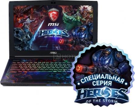 Ноутбук MSI GE62 6QF-050RU Apache Pro Heroes (15.6 LED (с широкими углами обзора IPS - level)/ Core i7 6700HQ 2600MHz/ 16384Mb/ HDD+SSD 1000Gb/ NVIDIA GeForce® GTX 970M 3072Mb) MS Windows 10 Home (64-bit) [9S7-16J432-050]