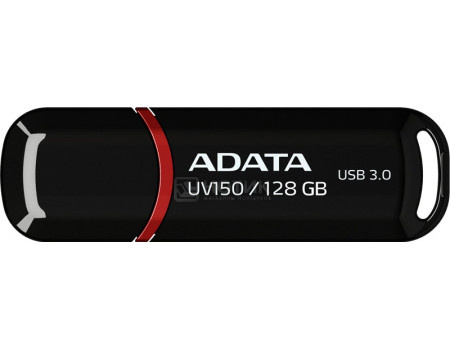 Фотография товара флешка A-Data 128Gb UV150, USB 3.0 Черный AUV150-128G-RBK (42676)