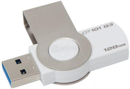 Флешка Kingston 128Gb DataTraveler 101 G3 DT101G3/128GB, Белый от Нотик