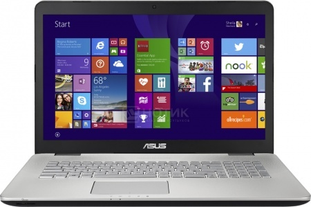 Ноутбук Asus N751JX (17.3 LED/ Core i7 4720HQ 2600MHz/ 8192Mb/ HDD 1000Gb/ NVIDIA GeForce GTX 950M 4096Mb) MS Windows 8.1 (64-bit) [90NB0842-M01260] от Нотик