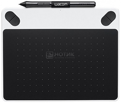 Графический планшет Wacom Intuos Draw Pen Smalll, Белый CTL-490DW-NWacom<br>Графический планшет Wacom Intuos Draw Pen Smalll, Белый CTL-490DW-N<br>