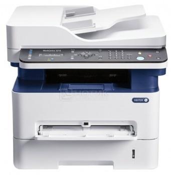 МФУ светодиодное монохромное Xerox WorkCentre 3215NI, A4, ADF, 27 стр/мин, 256Мб, факс, LAN, WiFi, U