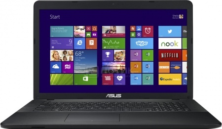 Ноутбук Asus X751LB (17.3 LED/ Core i7 5500U 2400MHz/ 8192Mb/ HDD 1000Gb/ NVIDIA GeForce 940M 2048Mb) MS Windows 10 Home (64-bit) [90NB08F1-M03240]Asus<br>17.3 Intel Core i7 5500U 2400 МГц 8192 Мб DDR3-1600МГц HDD 1000 Гб MS Windows 10 Home (64-bit), Черный<br>