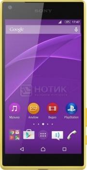 Защищенные смартфоны Sony Xperia Z5 Compact Yellow (Android 5.1/MSM8994 2000MHz/4.6 (1280x720)/2048Mb/32Gb/4G LTE 3G (EDGE, HSDPA, HSUPA)) [E5823 Yellow]Sony<br>4.6 Qualcomm 2000 МГц 2048 Мб Flash drive 32 Гб Android 5.1 бат. - до 11.5 ч Желтый<br>