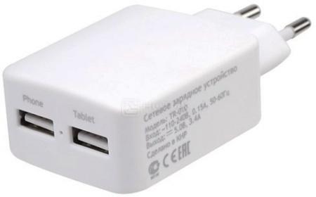 Сетевое зарядное устройство Deppa Ultra 11359 2xUSB, 3.4А, Белый