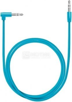 Кабель Deppa 72195 AUX Slim, Mini jack/Mini jack(3.5мм), L коннектор, 1.2м, Синий