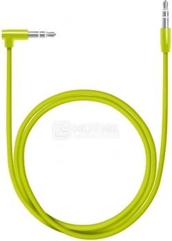 Кабель Deppa 72196 AUX Slim, Mini jack/Mini jack(3.5мм), L коннектор, 1.2м, Зеленый
