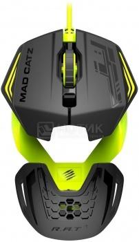 Мышь проводная Mad Catz R.A.T.1 3500dpi, Черный/Зеленый MCB437260006/06/1 от Нотик
