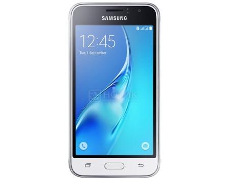 "Фотография товара смартфон Samsung Galaxy J1 SM-J120F White (Android 5.1/Exynos 3475 1300MHz/4.5"" 480x800/1024Mb/8Gb/4G LTE ) [SM-J120FZWDSER] (43840)"