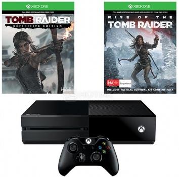 Игровая приставка Xbox One 1Tb + Tomb Raider, Черный