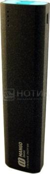 Внешний аккумулятор Mango Device MA-10400, 10400 мАч, 5V, 2.1A1A ,2xUSB, Черный MA-10400B