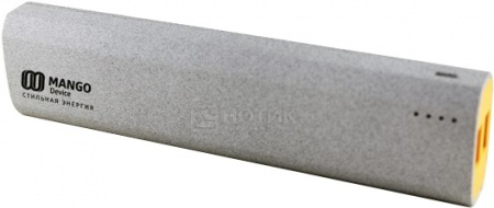 Аккумулятор Mango Device MA-10400, 10400 мАч, 5V, 2.1A\1A ,2xUSB, Серый MA-10400G