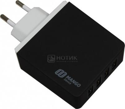 Сетевое зарядное устройство Mango Device, 4-USB-Port 5.4A, Черный XBX-07EB