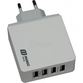 Сетевое зарядное устройство Mango Device, 4-USB-Port, 5.4A, Белый XBX-07EW