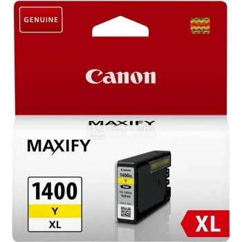 Картридж CANON PGI-1400XL Y Yellow для MAXIFY МВ2040/МВ2340, Желтый