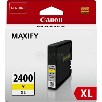 Картридж CANON PGI-2400XL Y Yellow для MAXIFY iB4040/МВ5040/МВ5340 , Желтый.