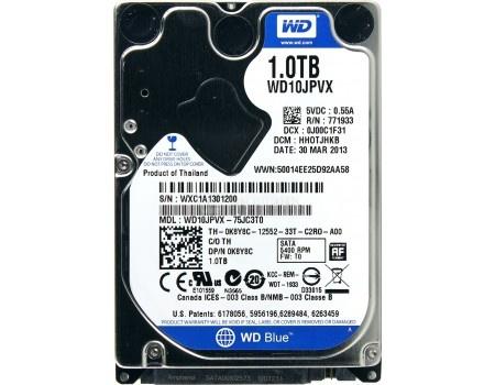"Внутренний жесткий диск Western Digital 1Tb WD10JPVX Scorpio Blue 2.5"" SATA-III"