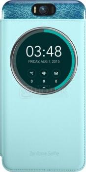 Чехол Asus ZenFone 2 Selfie MyView Cover, Полиуретан/поликарбонат, Голубой 90AC00X0-BCV004