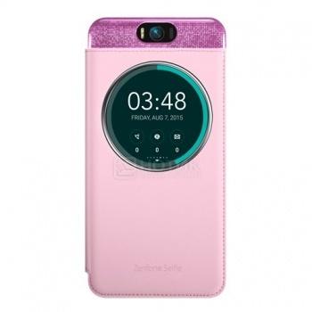 Чехол Asus ZenFone 2 Selfie MyView Cover , полиуретан/поликарбонат, Розовый 90AC00X0-BCV003