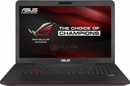 Ноутбук Asus G771JW (17.3 IPS (LED)/ Core i7 4750HQ 2000MHz/ 8192Mb/ HDD 1000Gb/ NVIDIA GeForce GTX 960M 2048Mb) MS Windows 10 Home (64-bit) [90NB0856-M03300]Asus<br>17.3 Intel Core i7 4750HQ 2000 МГц 8192 Мб DDR3-1600МГц HDD 1000 Гб MS Windows 10 Home (64-bit), Черный<br>