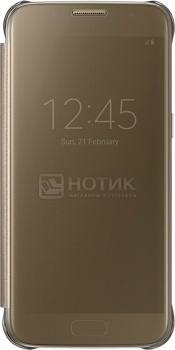 Чехол (клип-кейс) Samsung Clear View Cover для Galaxy S7, Поликарбонат, Gold, Золотистый, EF-ZG930CFEGRU
